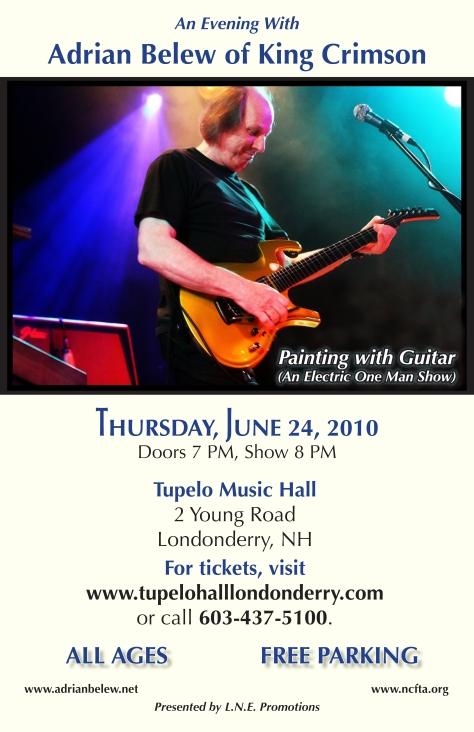 Adrian Belew 2010 Tupelo