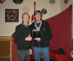 From left, Gary Pihl and Tom Scholz of BOSTON
