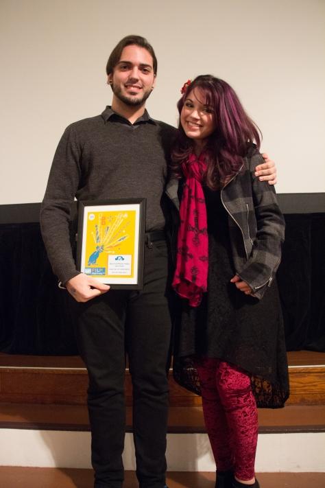 Jury Prize winner Mike Dunn and Rachel Astore.