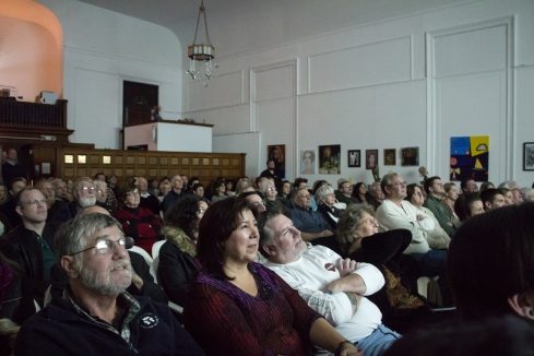The audience at the sold out event.