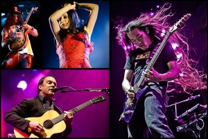 Among the photos appearing in the exhibit are (clockwise, from left) Slash, Lacey Sturm of Flyleaf, Herman Li of Dragonforce and Dave Matthews.