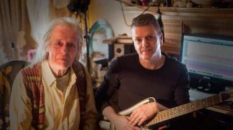 From left, legendary producer Tom Newman and Robert Reed. Newman co-produced Mike Oldfield's masterpiece Tubular Bells. He also worked with Reed on both Sanctuary albums.