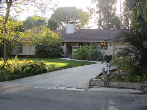 The ranch-style home where Dorothy, Rose, Blanche and Sophia lived on the show. (PHOTO BY J. KENNEY)