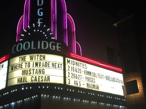 The Coolidge After Midnite weekend films series often screens horrifying, weird, camp, avant garde, tripped-out, and cult films, on 35 mm or even 16-mm.