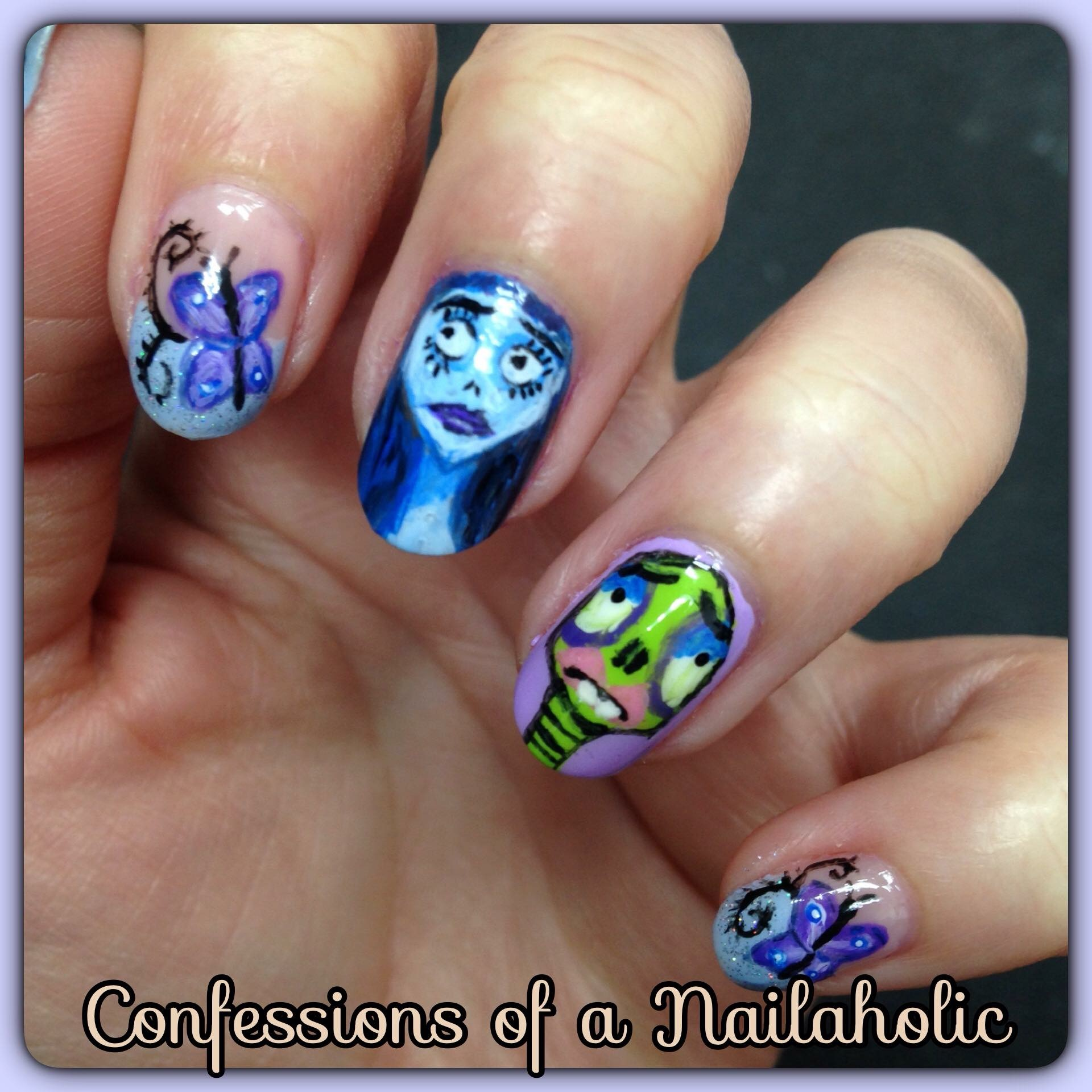 Corpse bride nails limelight magazine 1920 10 nail art designs for halloween prinsesfo Images