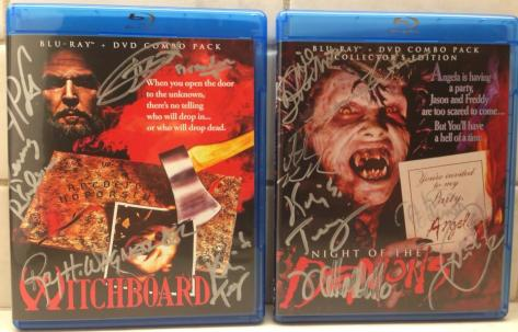 "Signed Blu-rays of ""Witchboard"" and ""Night of the Demons"" at Dark Delicacies. (PHOTO BY MIKE GALLAGHER)"