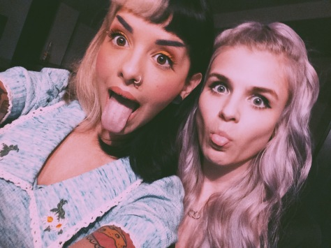 From left, The Voice's Melanie Martinez and Sarah Barrios.
