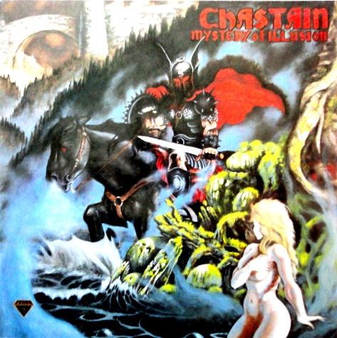 """""""Mystery of Ilusion"""" is the debut studio album by Chastain which featured Leather Leone on vocals."""