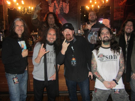 The Ultimate Fan: Brad Stevens with members of Metal Allegiance. (PHOTO BY J. KENNEY)