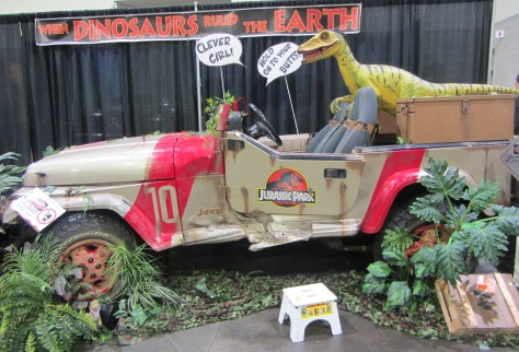 "A display from ""Jurassic Park."""